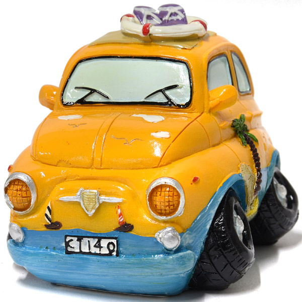 FIAT 500 Surf Coin Bank(Small/Orange)
