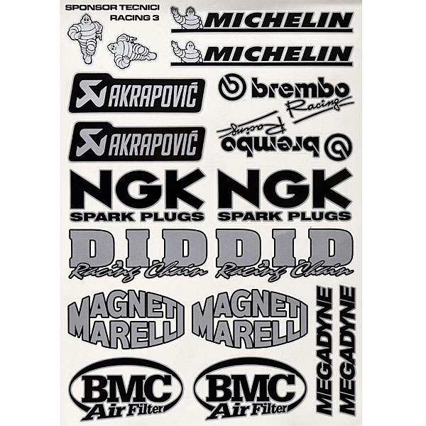 Sponsors Stickers Set(Black & Silver)