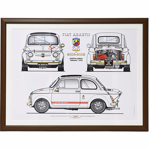 FIAT ABARTH 1000 esseesse Poster with Frame