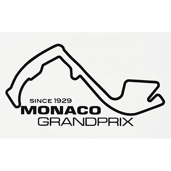 MONACO Grand Prix Official Sticker (Black)