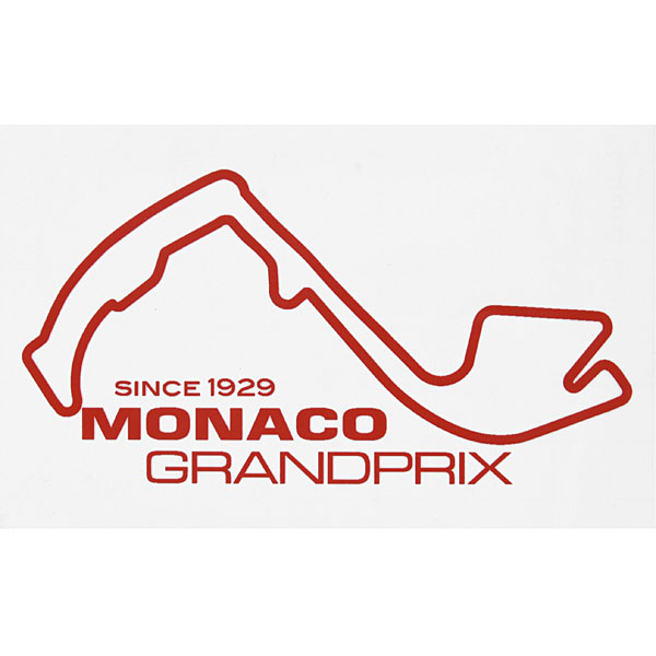 MONACO Grand Prix Official Sticker(Red)