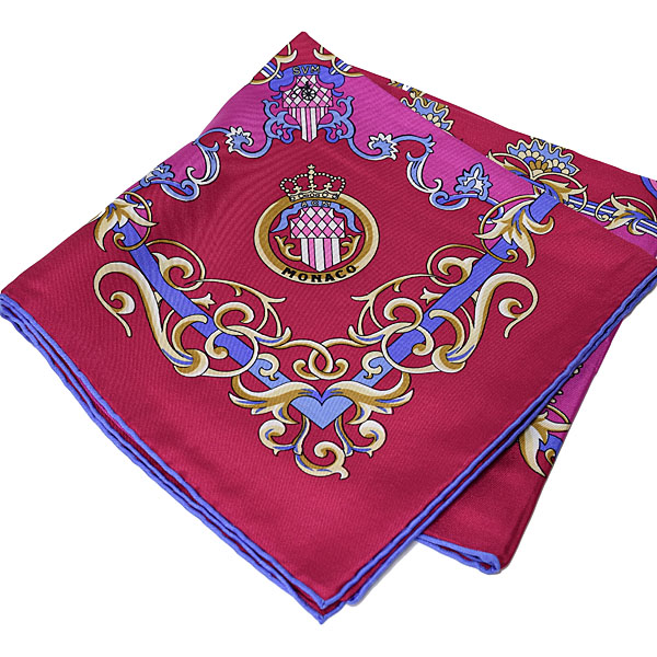 AUTOMOBILE CLUB DE MONACO Official Silk Scarf(Pink)