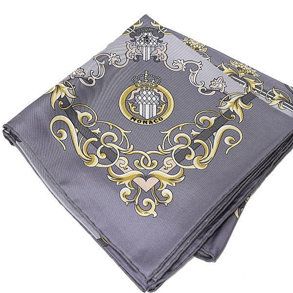 AUTOMOBILE CLUB DE MONACO Official Silk Scarf(Gray)