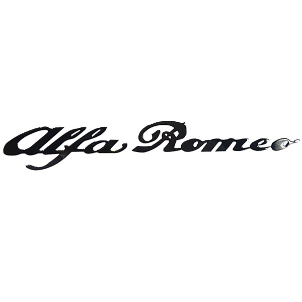 Alfa Romeo Logo Metal Sticker(Black)