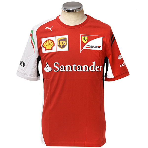 Scuderia Ferrari 2014 Team T-Shirts(Drivers Version)