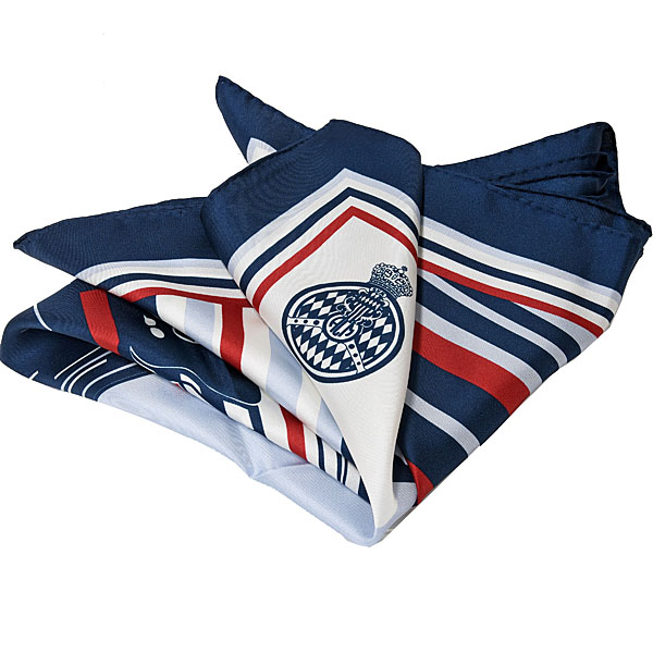 AUTOMOBILE CLUB DE MONACO Official Silk Scarf(Car/Navy)
