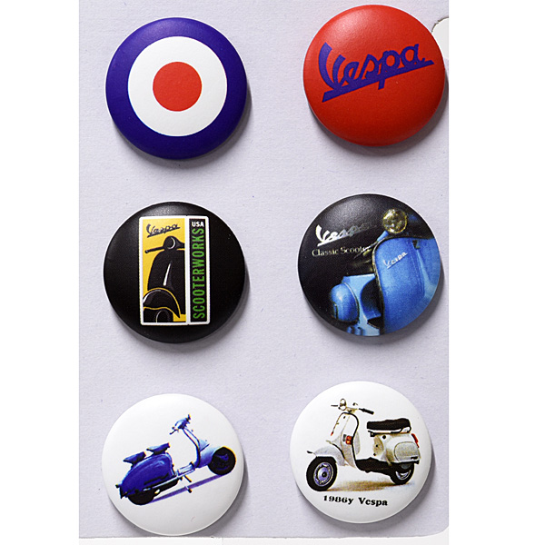 Vespa Button Badge Set F
