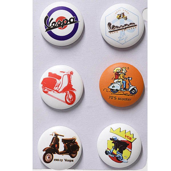 Vespa Button Badge Set E