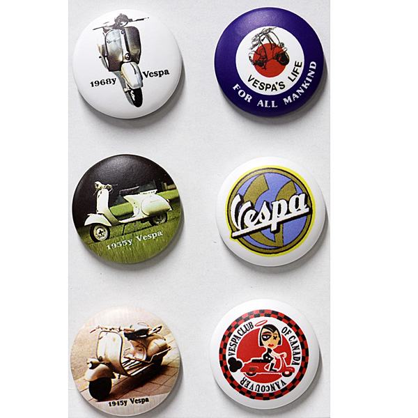 Vespa Button Badge Set D