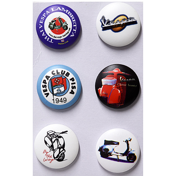 Vespa Button Badge Set C