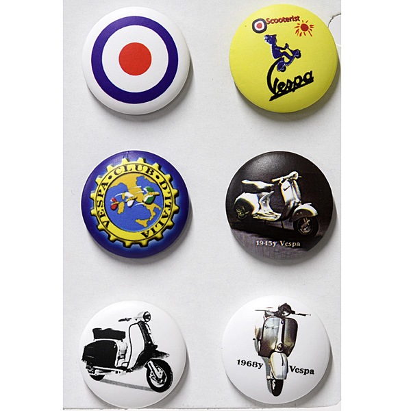 Vespa Button Badge Set B