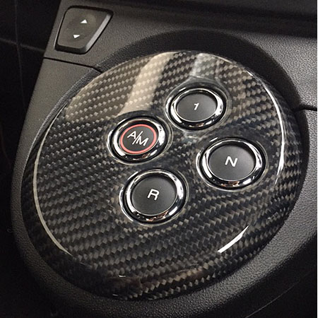 ABARTH 500 Carbon Shift Awitch Panel(smooth type) by THREE HUNDRED
