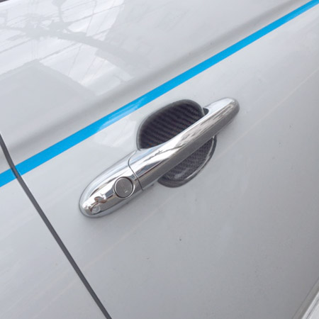 ABARTH 500 Carbon Door Handle Panel Cover by THREE HUNDRED