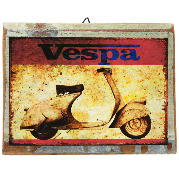 Vespa Wooden Sign Boad
