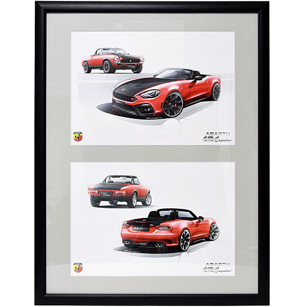 ABARTH 124 spider Poster(Red)
