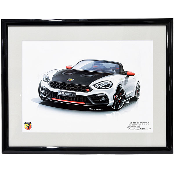 ABARTH 124 spider Poster(White)