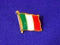 Italian Flag Pin Badge