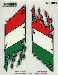 Italian Flag Sticker Set