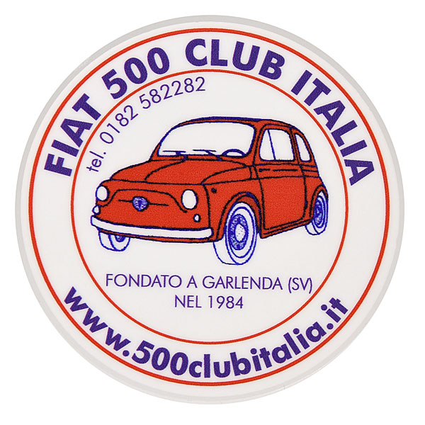 FIAT 500 CLUB ITALIA Sticker(Reverse Type)<br><font size=-1 color=red>09/12到着</font>