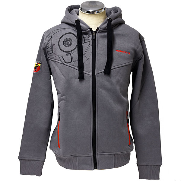 ABARTH Zip Up Hooded Felpa(Technical/Grey)<br><font size=-1 color=red>02/15到着</font>