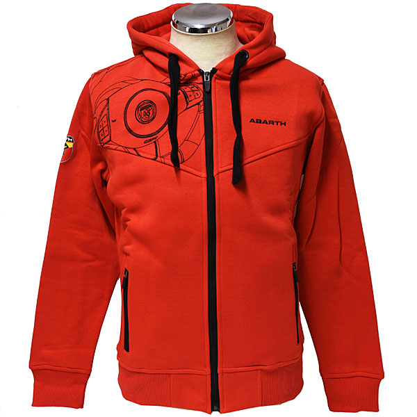 ABARTH Zip Up Hooded Felpa(Technical/Red)