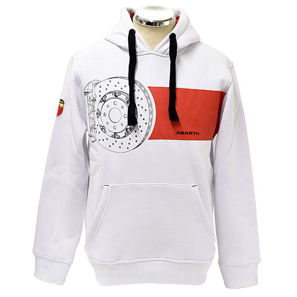 ABARTH Hooded Felpa(Technical/White)