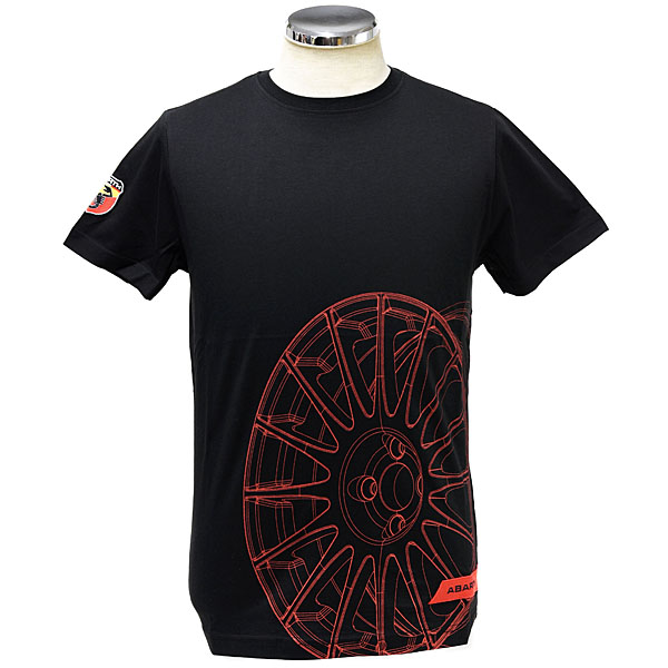 ABARTH T-Shirts(Technical/Wheel)Black
