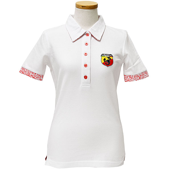 ABARTH Polo Shirts(Technical/White)for women
