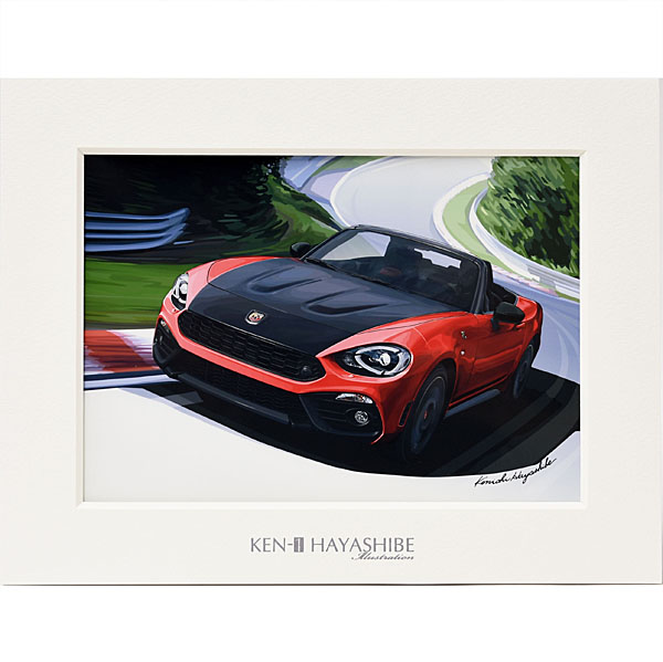 ABARTH124spider (Red) Illustration by Kenichi Hayashibe