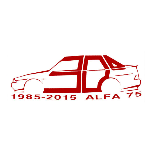 Alfa Romeo 75 30周年記念ロゴステッカー by RIA(Registro Italiano Alfa Romeo)