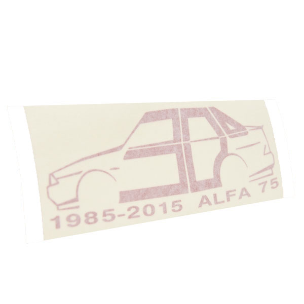 Alfa Romeo 75 30 anni Memorial Sticker(Red) by RIA(Registro Italiano Alfa Romeo)