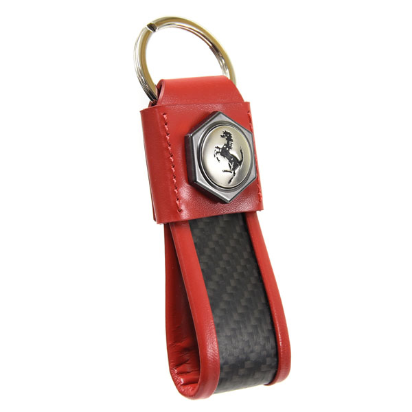 Ferrari Strap Shaped Keyring(Red)