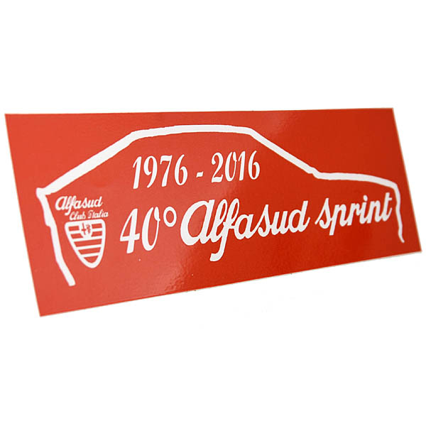 Alfasud Club Italia Alfasud Sprint 40 anni Sticker