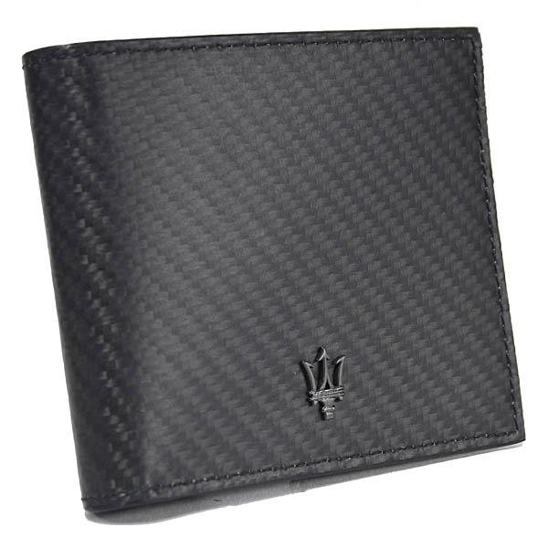 MASERATI Leather Wallet(MASERATI CORSE/Carbon Pattern)