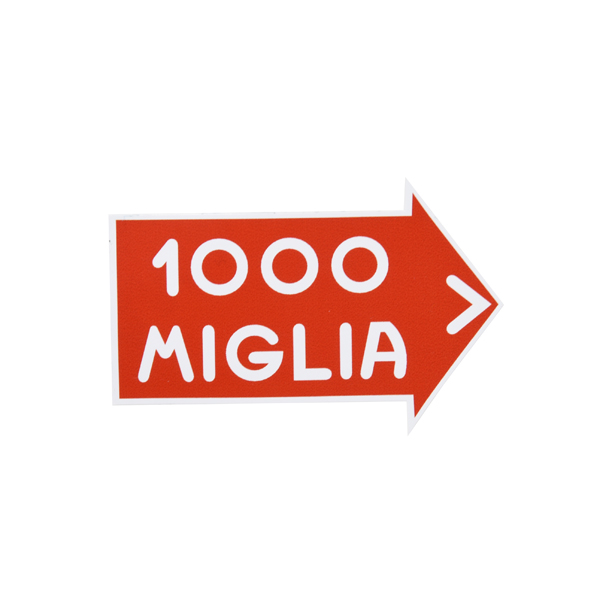 1000 MIGLIA Official Sticker(White Outline/S)