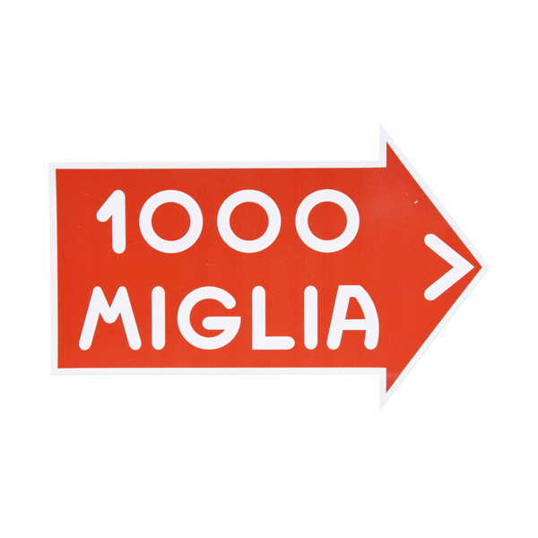 1000 MIGLIA Official Sticker(White Outline/L)