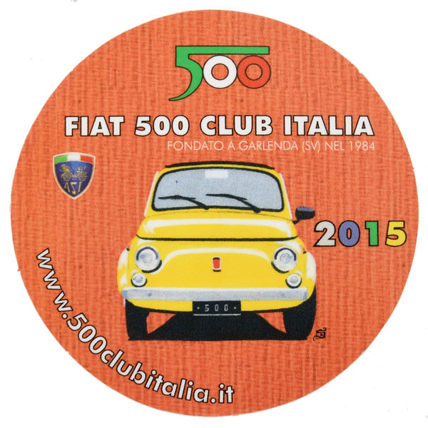 FIAT 500 CLUB ITALIA 2015 Sticker(Reverse Type)