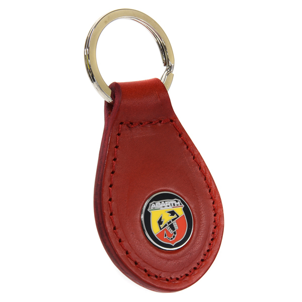 ABARTH New Black Base Emblem Based Keyring(Red)<br><font size=-1 color=red>03/22到着</font>