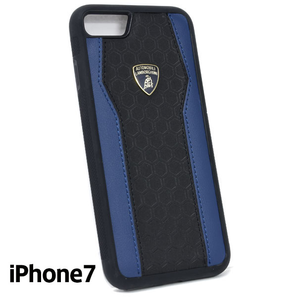Lamborghini iPhone7 Leather Case(Black/Blue)