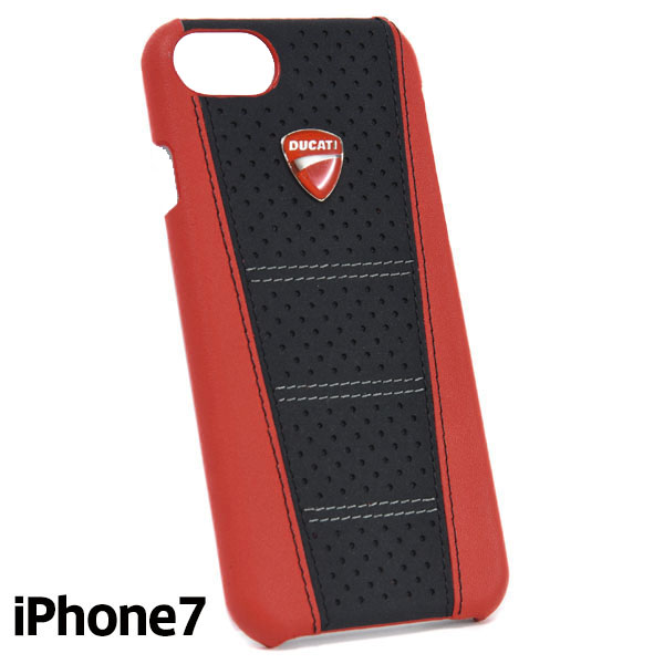 DUCATI iPhone7/6/6s Leather Case(Black/Red)