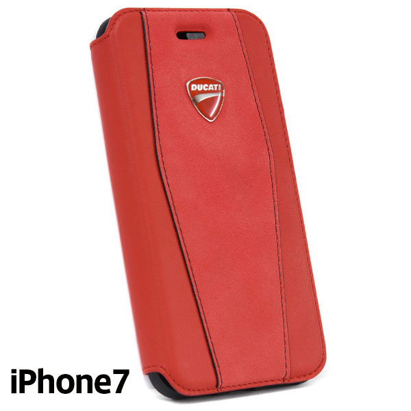 DUCATI iPhone7 Flip Type Leather Case(Red)