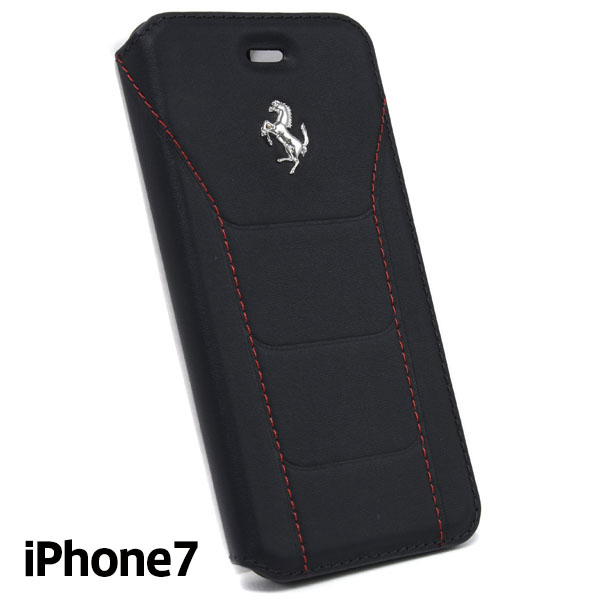 Ferrari iPhone7/6/6s Book Type Case-488/Black-