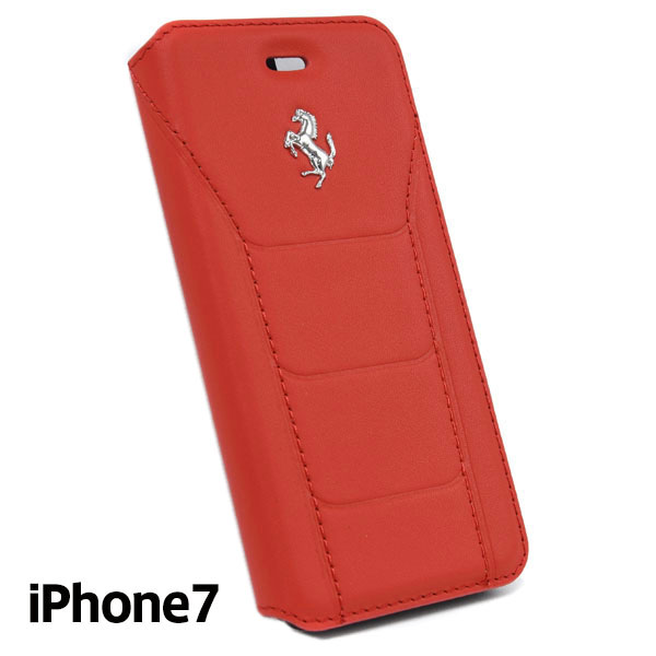 Ferrari iPhone7/6/6s Book Type Case-488/Red-