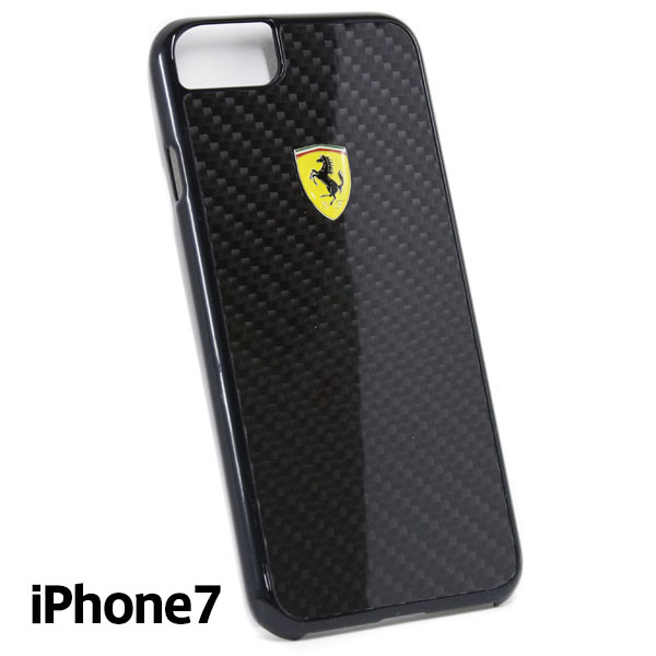 Ferrari iPhone7/6/6s Real Carbon Case(Black)
