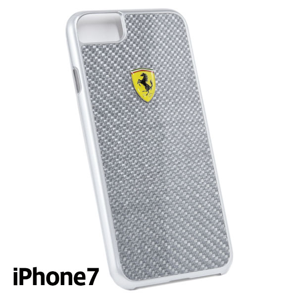 Ferrari iPhone7/6/6s Carbon Fiber Case(Silver)