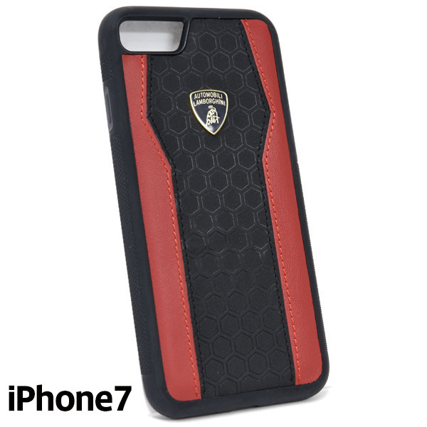 Lamborghini iPhone7 Leather Case(Black/Red)