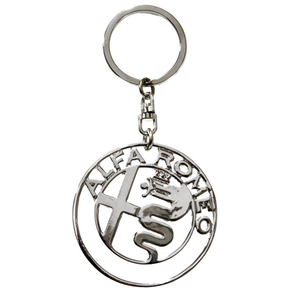 Alfa Romeo New Emblem Keyring(Chrome)