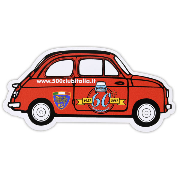 FIAT 500 60anni Memorial Sticker by FIAT 500 CLUB ITALIA