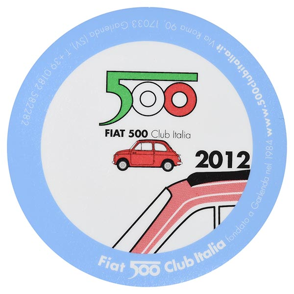 FIAT 500 CLUB ITALIA 2012 Sticker(Reverse Type)