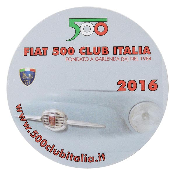 FIAT 500 CLUB ITALIA 2016 Sticker(Reverse Type)